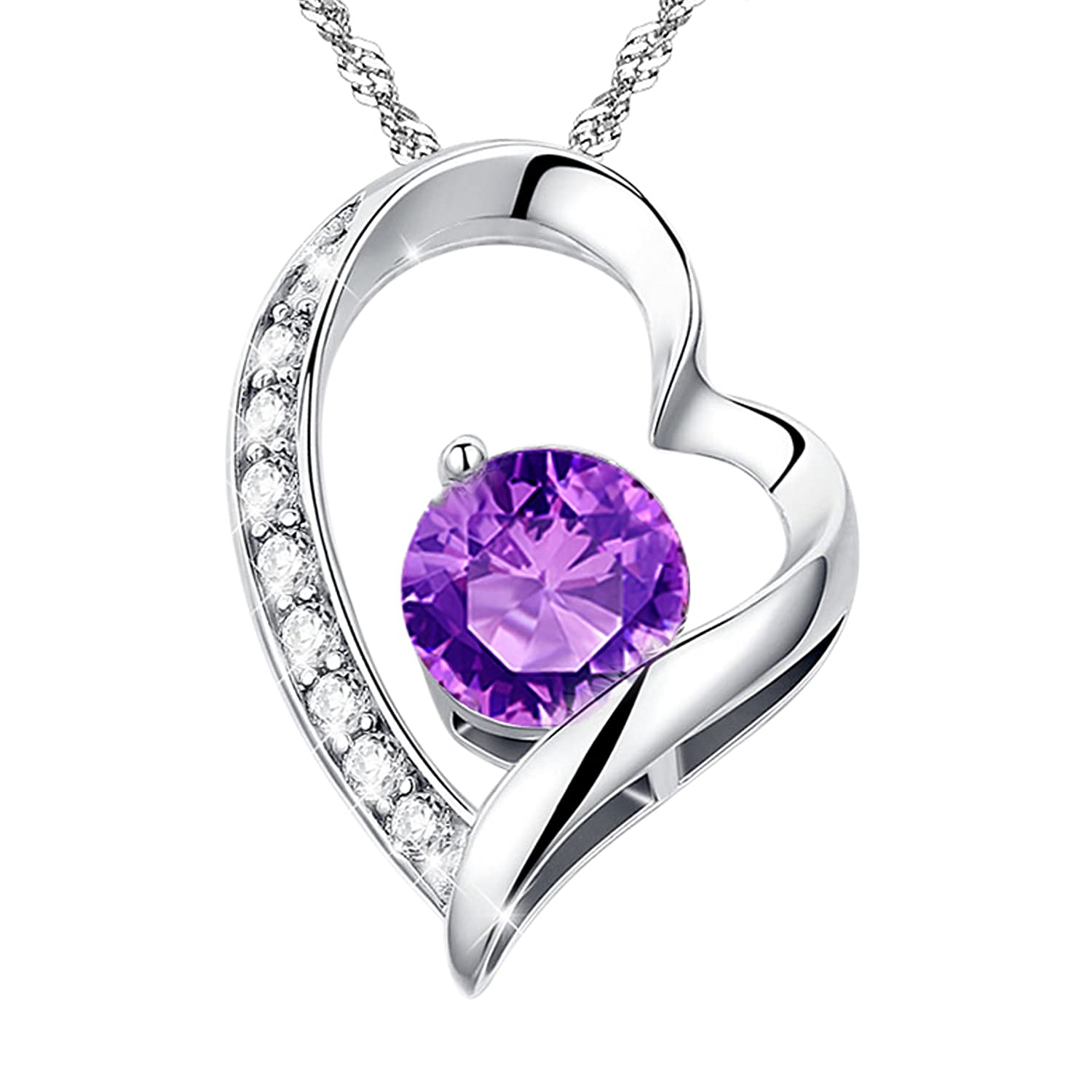 amethyst views diamond pendant shape more purple pear rose gold and