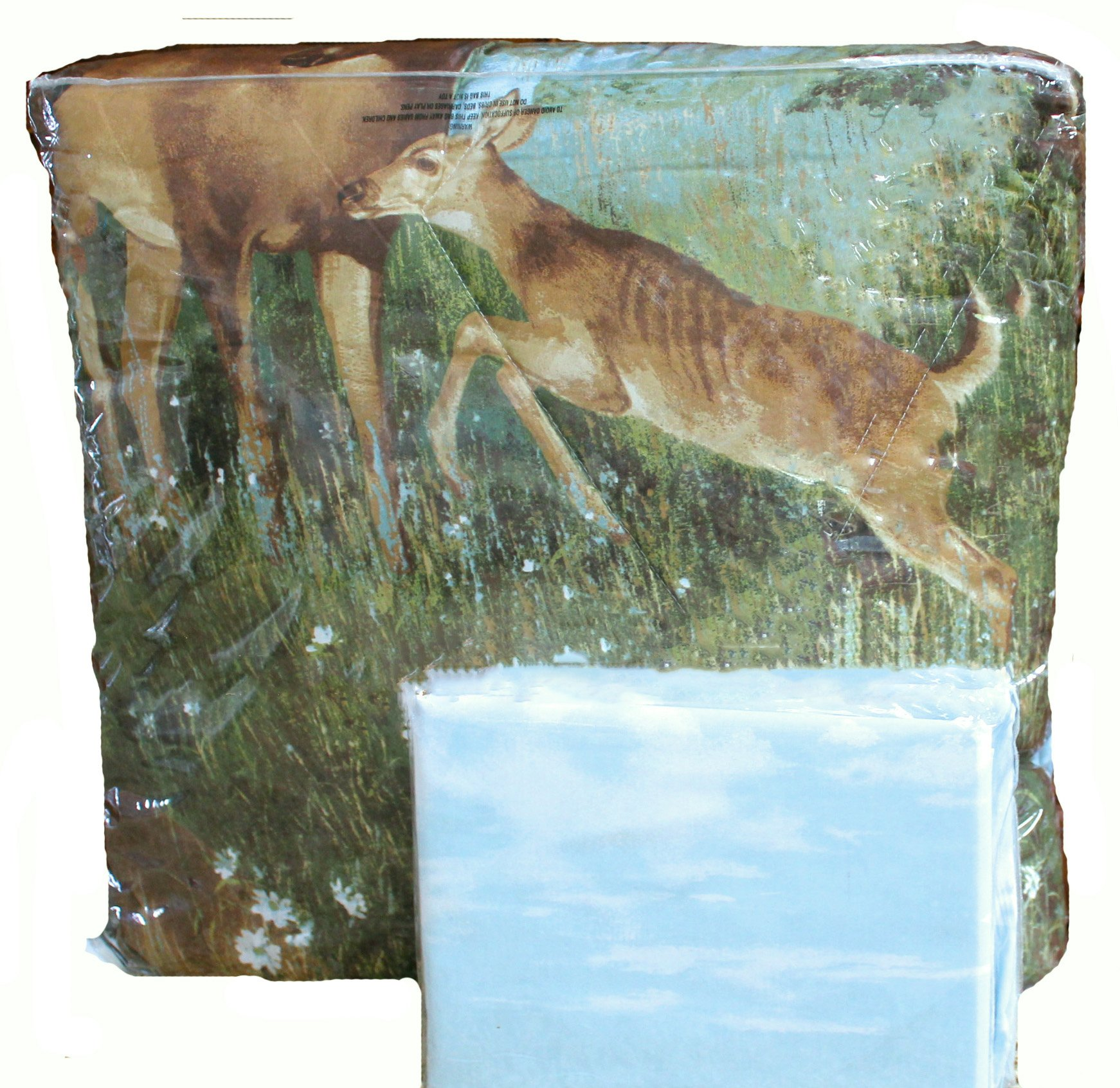 8pc Whitetail Deer Trophy Buck Comforter, Sheets, Pillow Shams & Bedskirt Set (Bed in a Bag) (8pc Full Size)