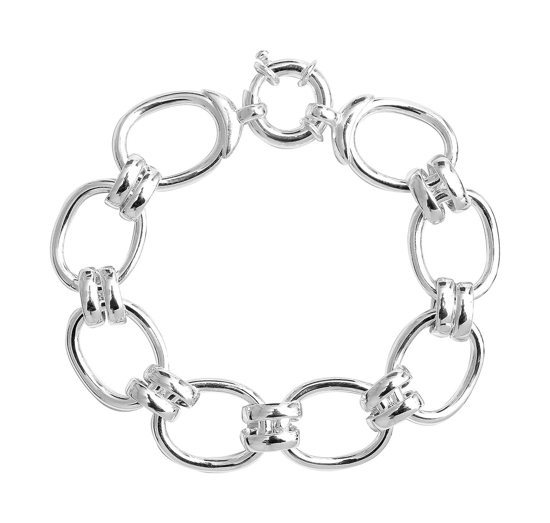 610c2e3155 Clio Blue Timeless Oval Mesh Bracelet in 925 Silver: Amazon.co.uk: Jewellery