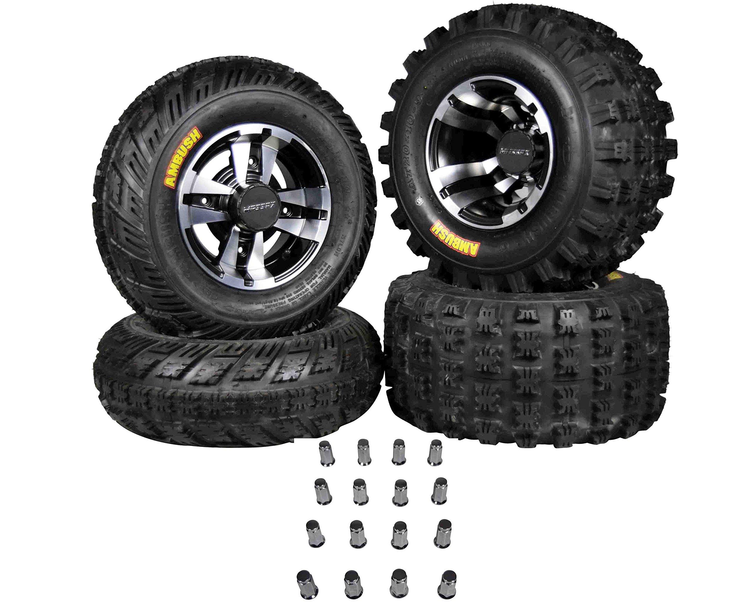 Ambush 21x7-10 20x10-9 Tires w MASSFX Machined Rims 10x5 4/156 9x8 4/115 Wheels