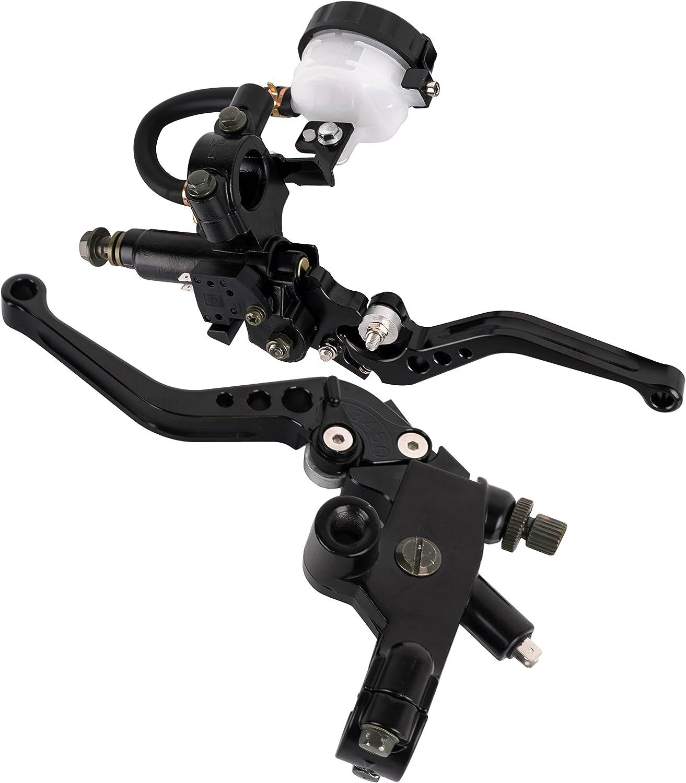 Oro 22mm 7//8regolabile frizione moto leva della frizione leva del cilindro principale pompa set per Ducati per yamaha 250cc a 500cc