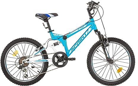 Niño bicicleta 20 pulgadas Sprint Element Mountain Bike Fully, 6 velocidades Shimano: Amazon.es: Deportes y aire libre