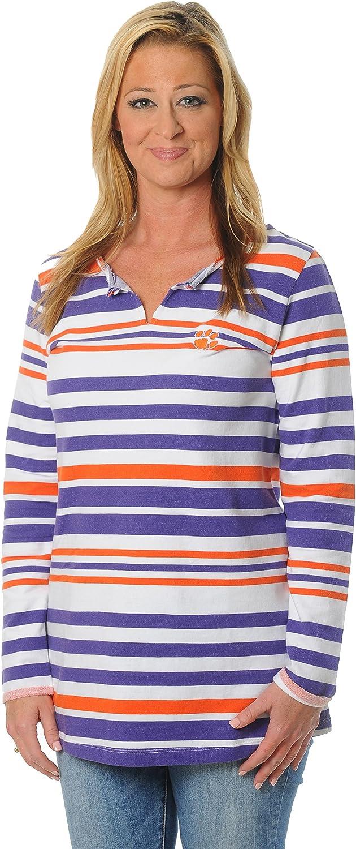 NCAA Womens Striped Tunic Fleece Top
