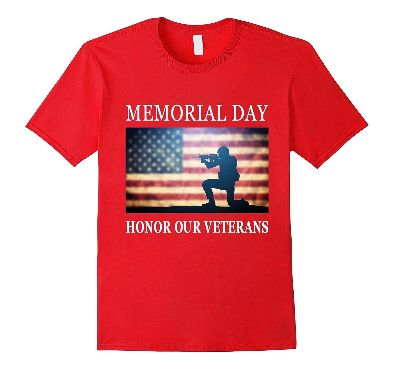 Honor Our Veterans - Silhouette Memorial Day T-Shirt-CD