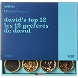 DAVIDsTEA David's Top 12 Tea Sampler, Loose Leaf Tea Gift Set, Assortment of 12 Fan Favourite Teas, 109 g / 3.8 oz