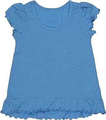 ToBeInStyle Infant Girls' Sheer Jersey High Low Flutter Blouse