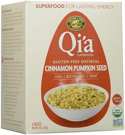Natures Path Organic - Calabaza del cinamomo de la harina de avena de Qia
