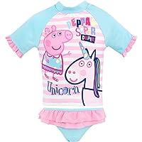 Peppa Pig Girls' Peppa & Unicorn Two Piece Swim Set Pink