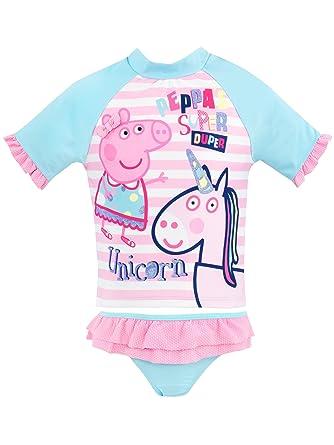 bcdeb4282 Peppa Pig Girls Peppa & Unicorn Swim Set Ages 12 Months to 8 Years ...