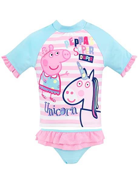 0baf139dc8 Peppa Pig Girls Peppa   Unicorn Swim Set Ages 12 Months to 8 Years ...