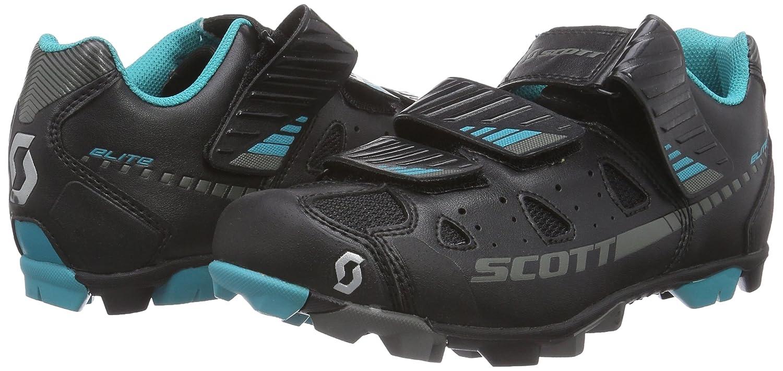 Scott MTB Elite - Zapatillas de Ciclismo de Material sintético para Mujer Negro Negro, Color Negro, Talla 38: Amazon.es: Zapatos y complementos