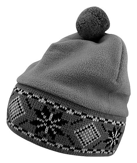 962160e2219 Enimay Women s Beanie Cap Hat Pom Pom Warm Winter Padded Styled Soft Fuzzy  Cozy Grey One