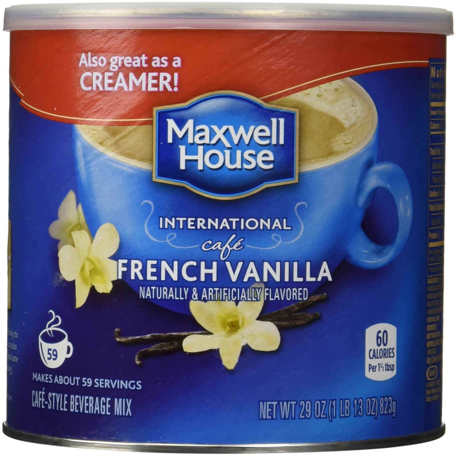 Maxwell House International Coffee French Vanilla Cafe  Ounce Cans
