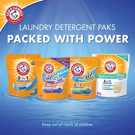 Amazon.com : Arm & Hammer 2-in-1 Laundry Detergent Power ...