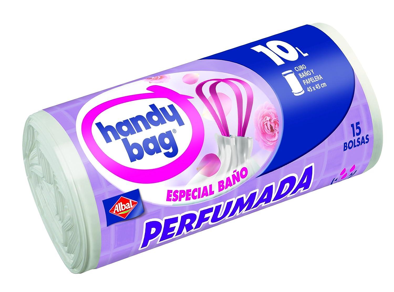 Handy Bag - Bolsa Basura Perfumada Baño 10 L 15 Bolsas - [Pack de 3]