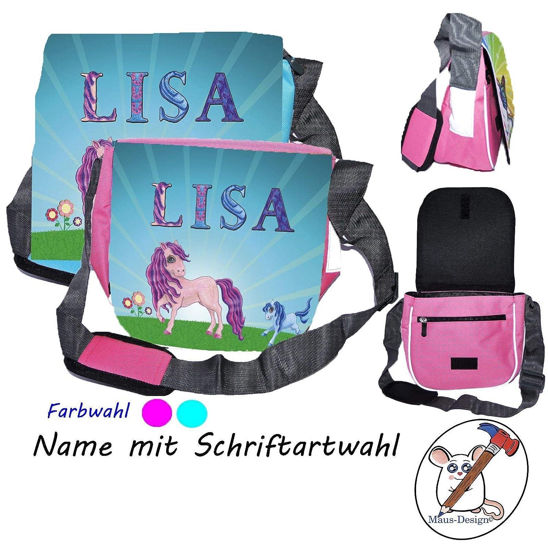 "Kindergartentasche /""Pferde/"" mit Namen"