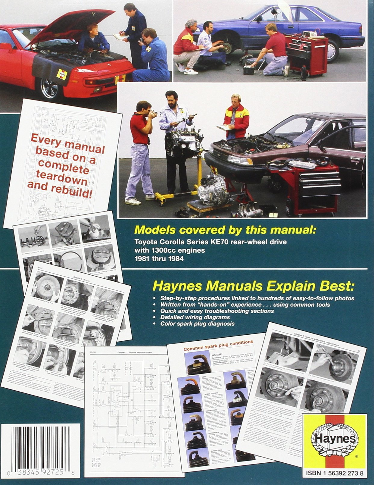 Toyota Corolla RWD automotive repair manual (Haynes automotive repair manual  series): Jeff Killingsworth: 9781563922732: Amazon.com: Books