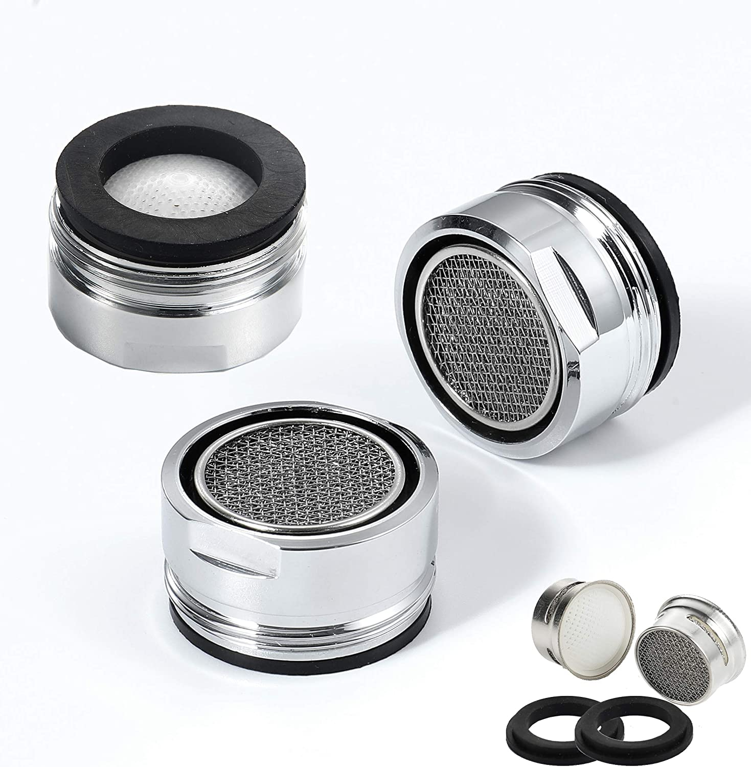 Kitchen Faucet Aerator Flow Retrictor Insert Faucet Aerators With Brass Shell Replacement Parts For Spout 3 Pack Standard Size Ar80 3p Amazon Com