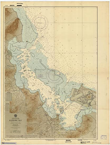Kaneohe Bay Hawaii Map.Amazon Com 1947 Nautical Chart Historical Kaneohe Bay Hi