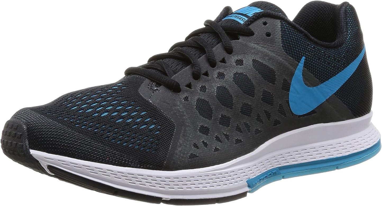 Nike Air Zoom Pegasus 31, Zapatillas de Running para Hombre, Negro/Azul/Blanco (Black/Blue Lagoon-Clrwtr-White), 40 1/2 EU: Amazon.es: Zapatos y complementos