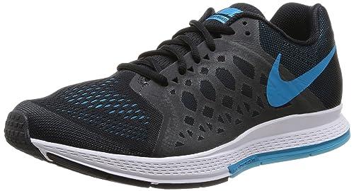 68b14e3edf68f Nike Men s Air Zoom Pegasus 31 Black Blue Lagoon Clrwtr White Running Shoe