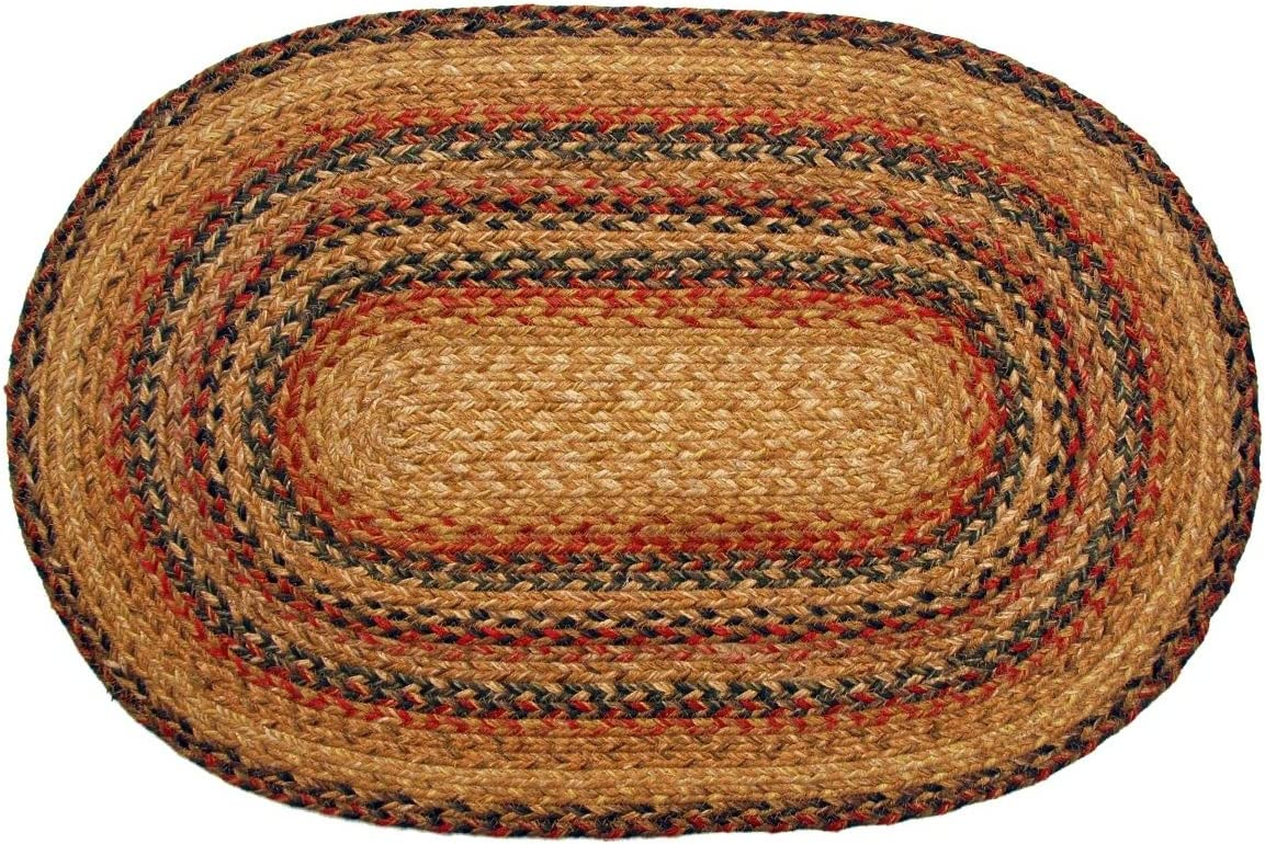 Home Spice Jute Braided Rugs Oval Timber Trail 8 x10