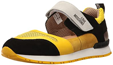 Love Moschino Damen Sport- & Outdoor Sandalen Gelb Giallo-Nero, Gelb - Giallo-Nero - Größe: Donna IT 39