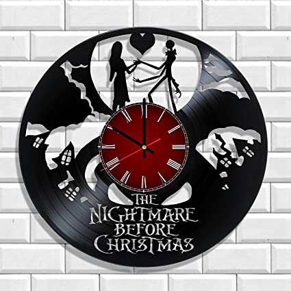 the nightmare before christmas wall clock made from real vinyl the nightmare before christmas poster - When Was The Nightmare Before Christmas Made