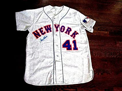 sale retailer 3d284 407ae Tom Seaver 1969 New York Met's Signed Auto Quality Flannel ...