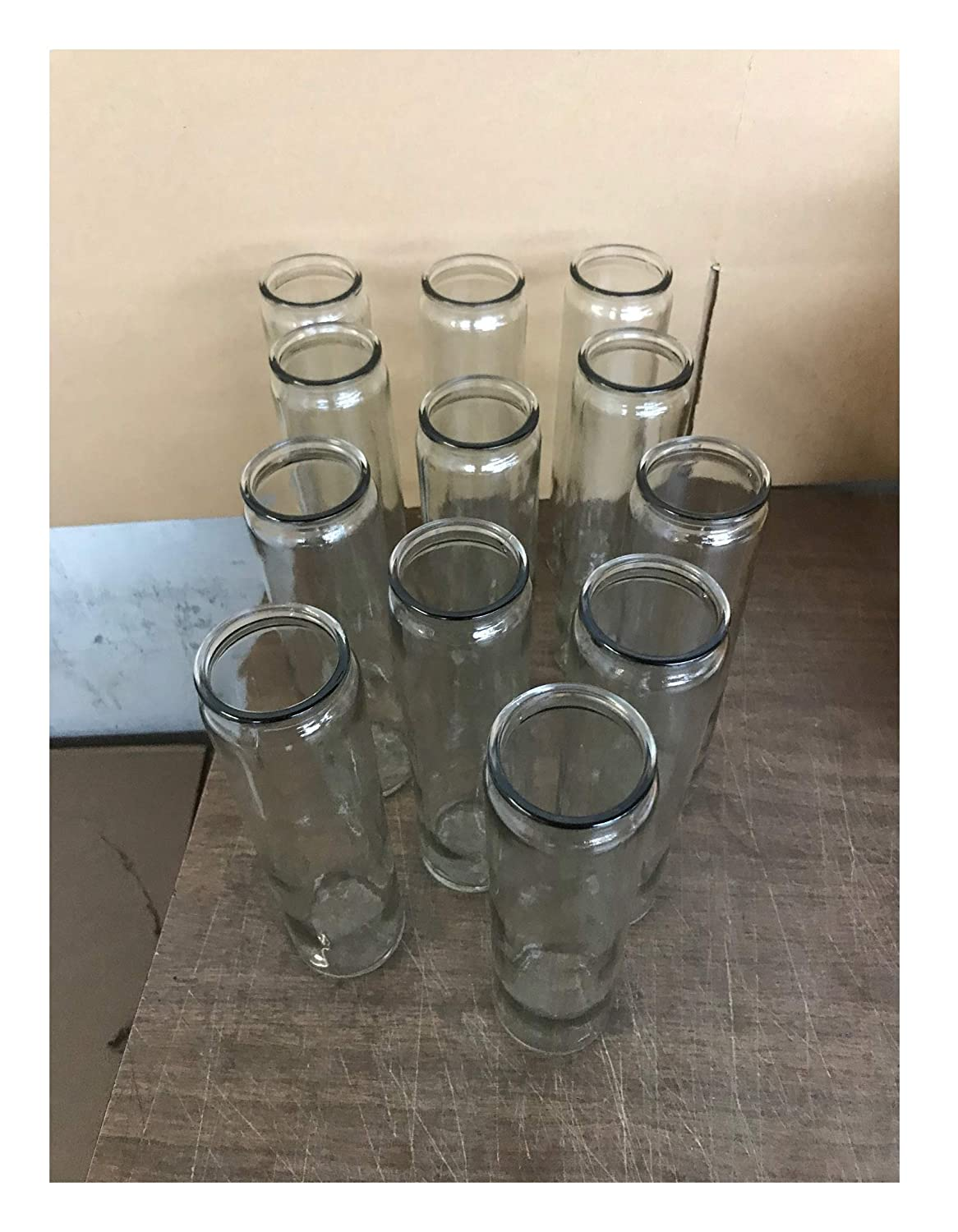 BalsaCircle Set of 12 Wholesale Super Saver 8.5 Tall Clear Glass Square Vases for Wedding Party Flowers Centerpieces Home Decorations Supplies Bulk Pack of 12