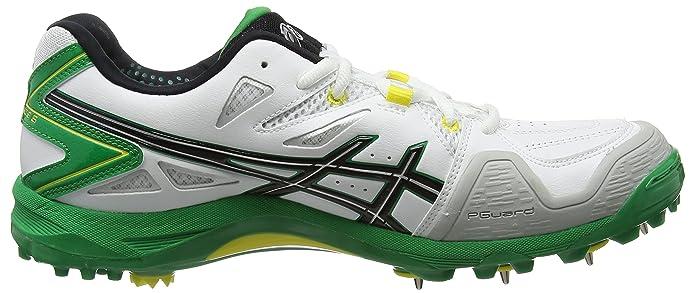 ASICS GEL-Advance 6 de Chaussures de Cricket pour homme, Blanc, 46.5