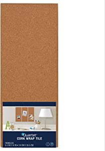 "Quartet Cork Tiles, Cork Board, 5-1/2"" x 14"""