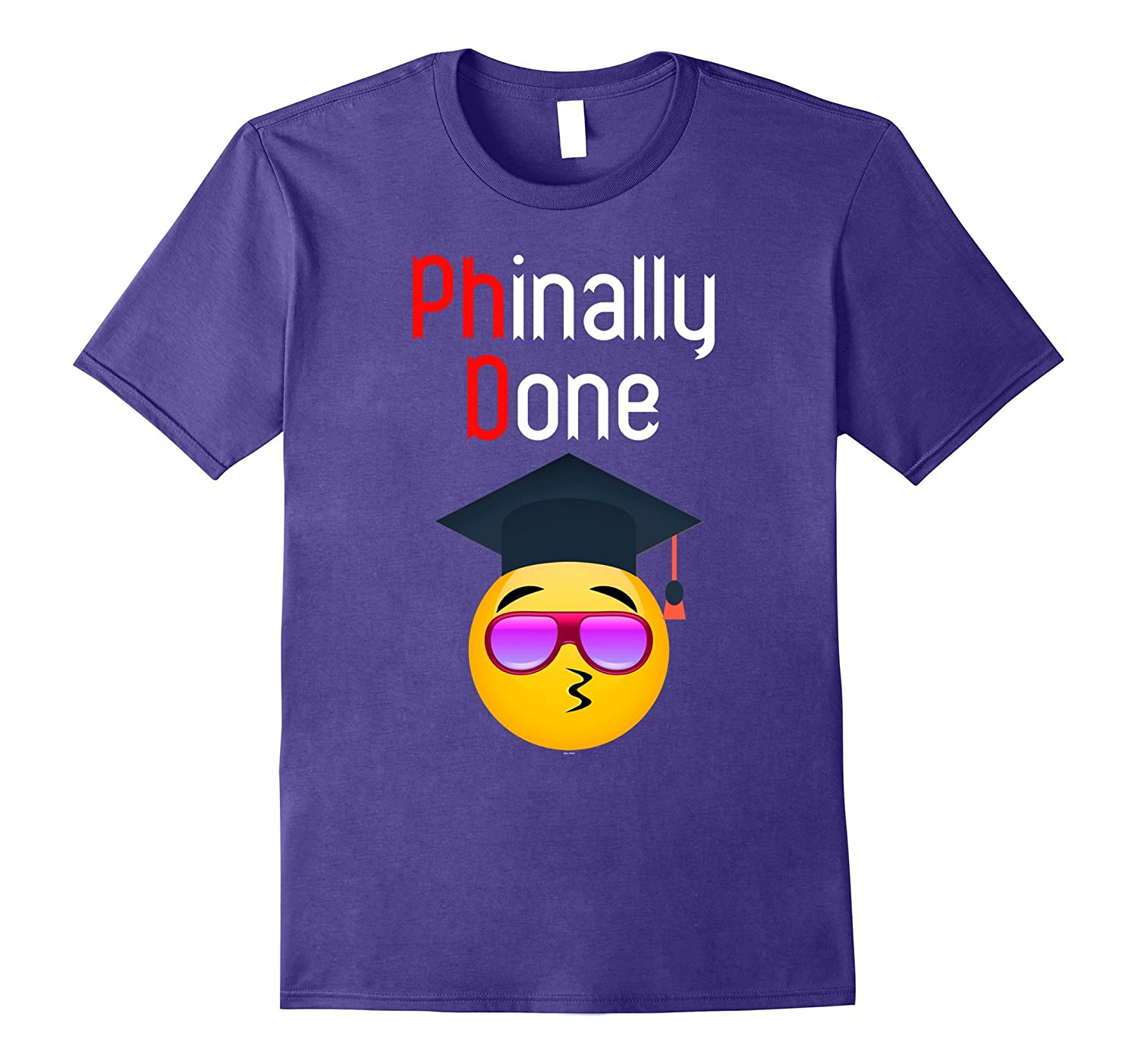 Emoji grad gifts for her PhD PhinisheD graduation 2017 t tee-Vaci