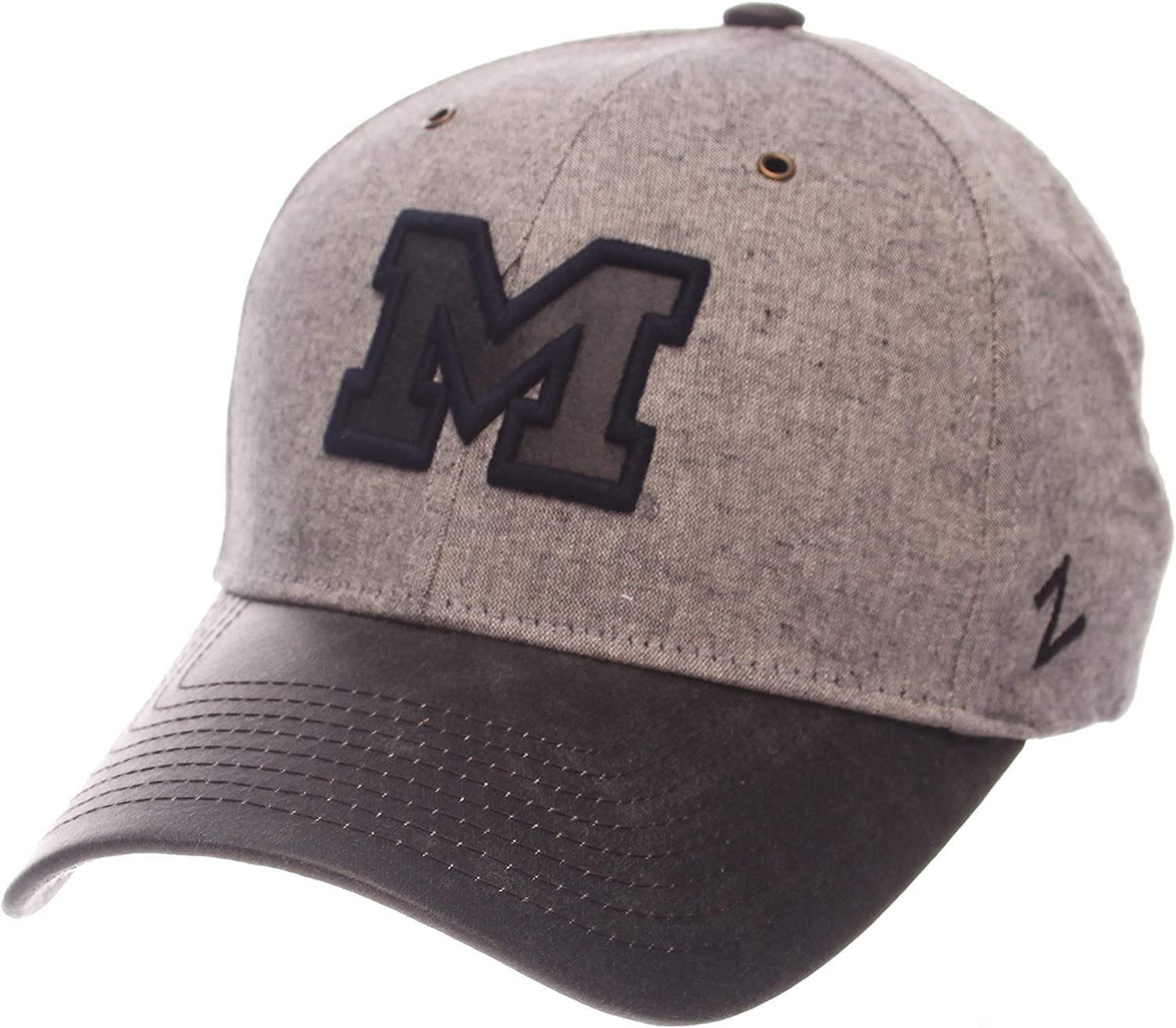 Adjustable Gray NCAA Zephyr Michigan Wolverines Mens The Supreme Hat