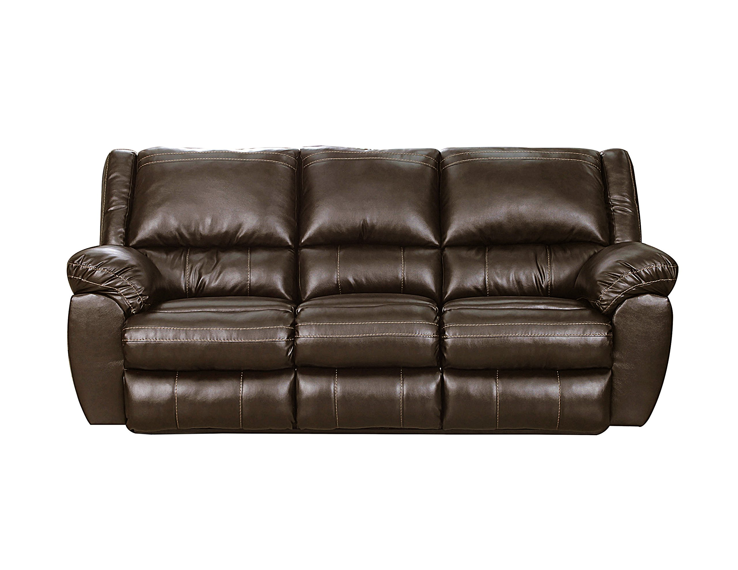 Simmons Upholstery 50433BR-53 Bingo Motion Sofa, Brown by Simmons Upholstery