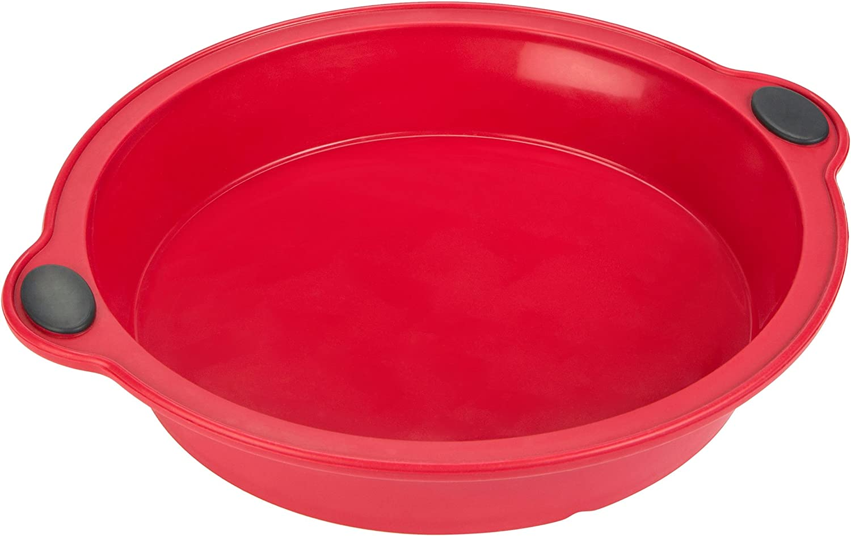 Rosso Diametro 24 cm Levivo Stampo per Torta in Silicone Forma per Torta in Silicone