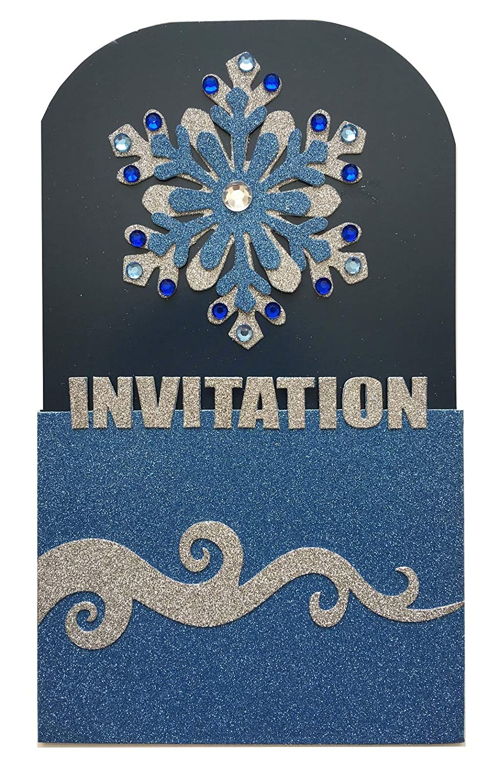 Amazon Com Snowflake Birthday Party Invitation Winter Party