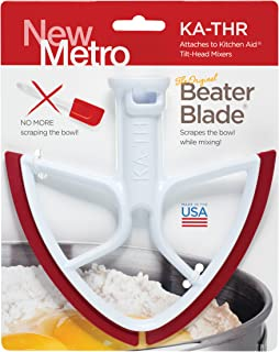 product image for Original Beater Blade for KitchenAid Tilt-Head Mixer, 4.5 and 5 Quart , KA-THR, Red, Made in USA