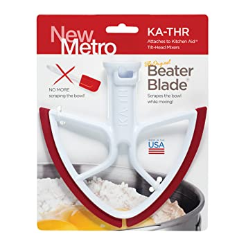 New Metro Design Beater Blade for KitchenAid Tilt-Head Models, 4.5 and 5 Quart - Red Blades by BeaterBlade: Amazon.es: Hogar