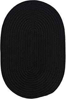 product image for Colonial Mills Floor Decorative Boca Raton Black Area Rug Oval 2'x8'