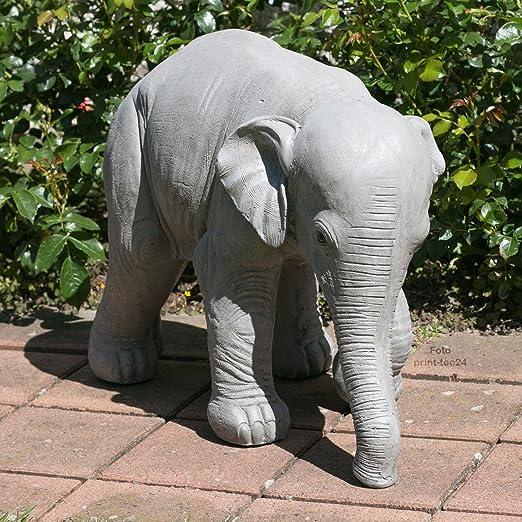 Figura de elefante Jardín Animales Magnesia Jumbo África gris animales figura decorativa para jardín: Amazon.es: Jardín