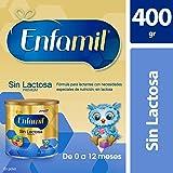 Enfamil Sin Lactosa Premium, 400 gr, Fórmula Infantil Especializada para Bebés de 0 a 12 meses, Lata