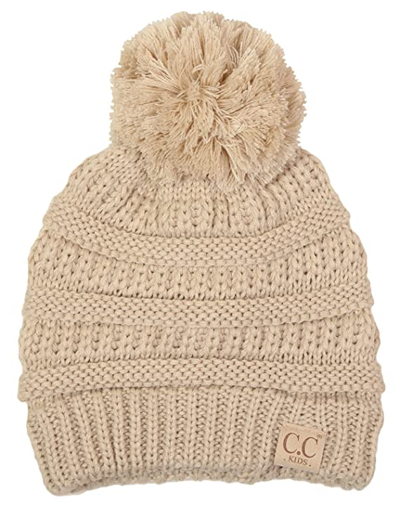 Amazon.com: H-6847-816k.40 Childrens 4 Tone Pom Beanie - Purple ...