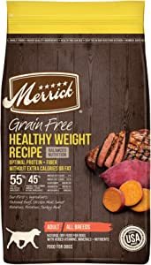 Merrick Real Meat Dry Dog Food Health Weight Recipe