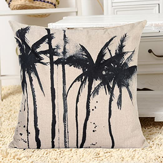 Chenxi tienda 45 x 45 cm Negro Monochrom Tropical escena ...