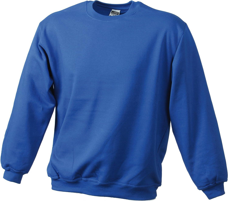 TALLA 5XL. James & Nicholson Sweatshirt Round Heavy Üg Sudadera para Hombre