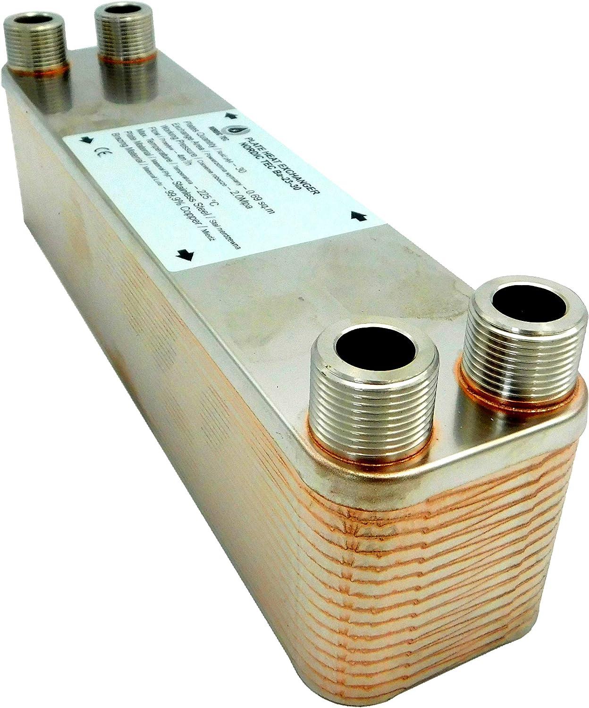 /Échangeur de chaleur thermique /à plaque NORDIC TEC Ba-23-30 125kW 30 plaques 3//4