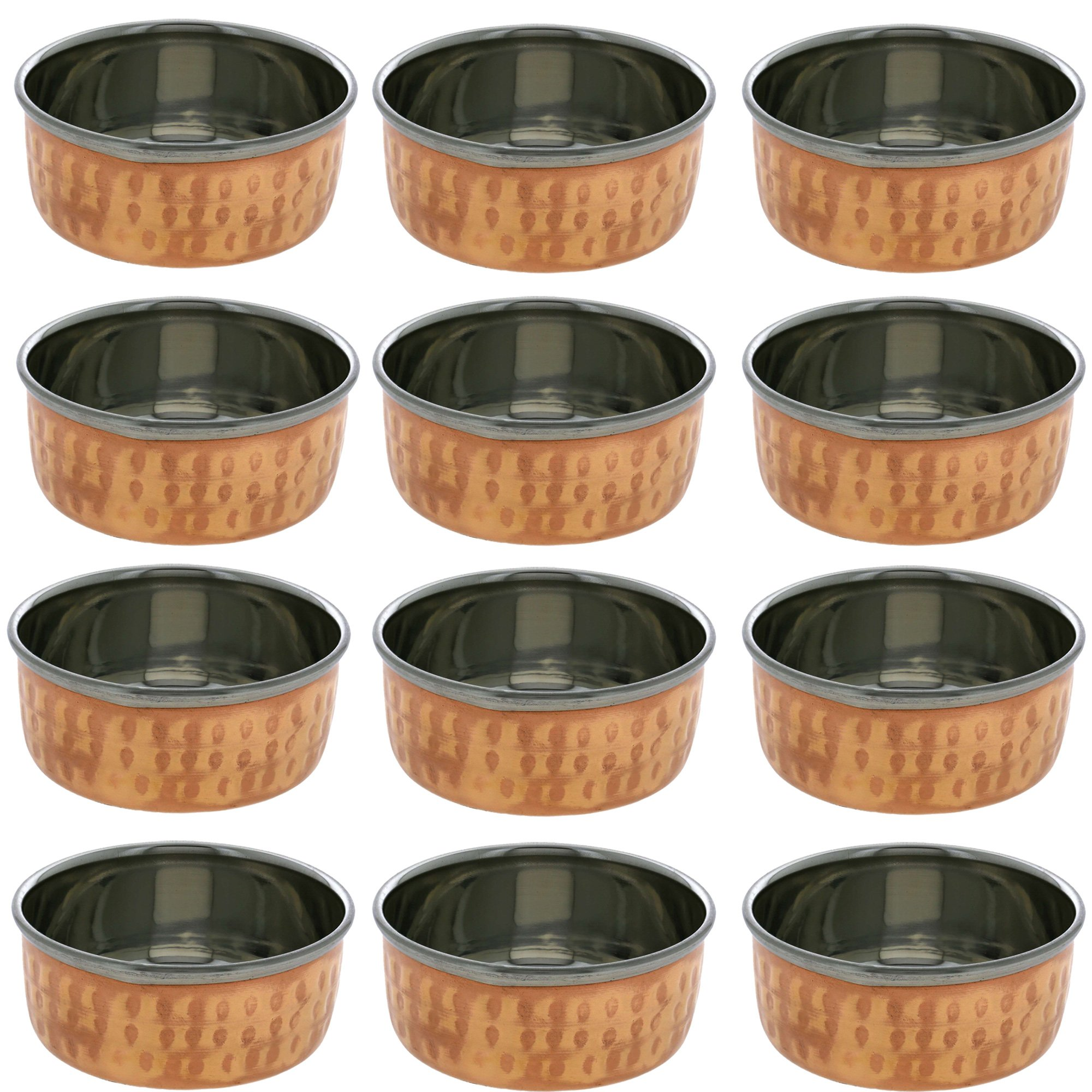 Copper Dinnerware Stainless Steel Dessert Bowl 6oz (12)