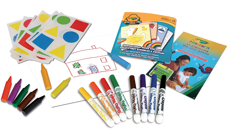 Crayola 10570 - Mi Primer Set De Colorear con Pegatinas: Amazon.es ...