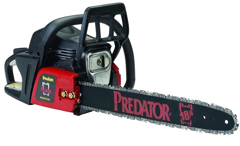 """Amazon.com : Predator Poulan 967607201 42cc Chainsaw, 18"""" : Garden & Outdoor"""